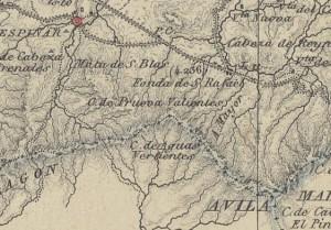 Recorte mapa general Segovia 1849